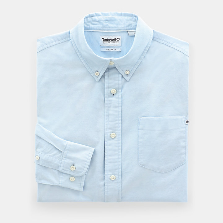 Pleasant River Oxford Shirt for Men in Blue-