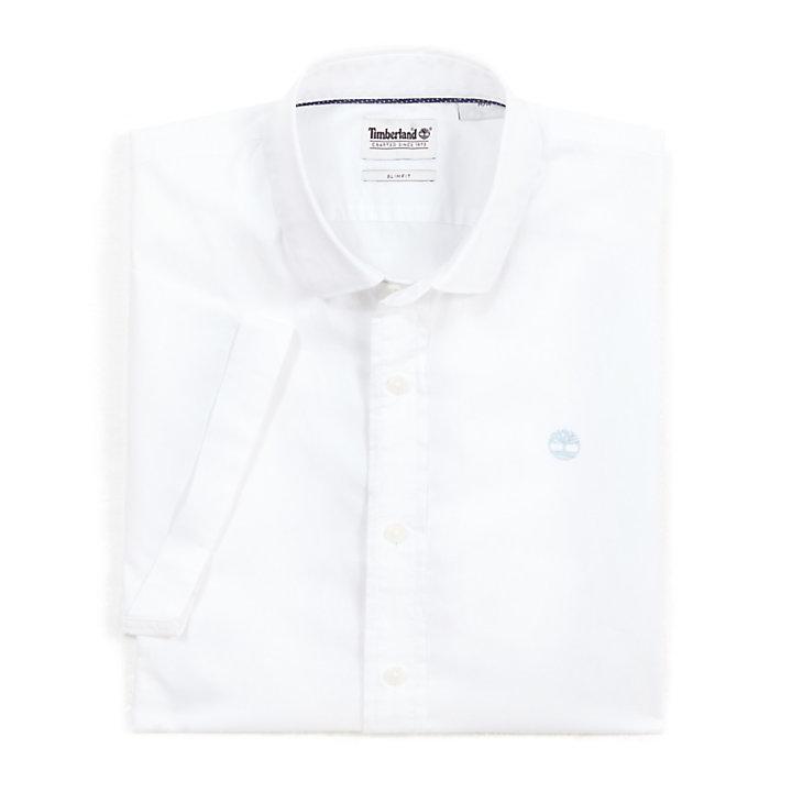 Camisa de Manga Corta Eastham River para Hombre en Blanco-