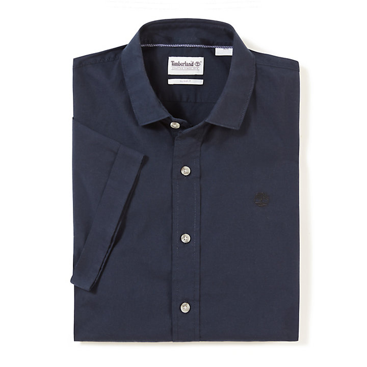 Eastham River SS Shirt for Men in Navy-