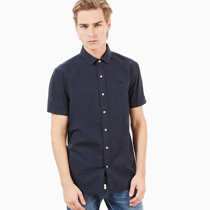 Camisa de Manga Corta Eastham River para Hombre en Azul Marino-