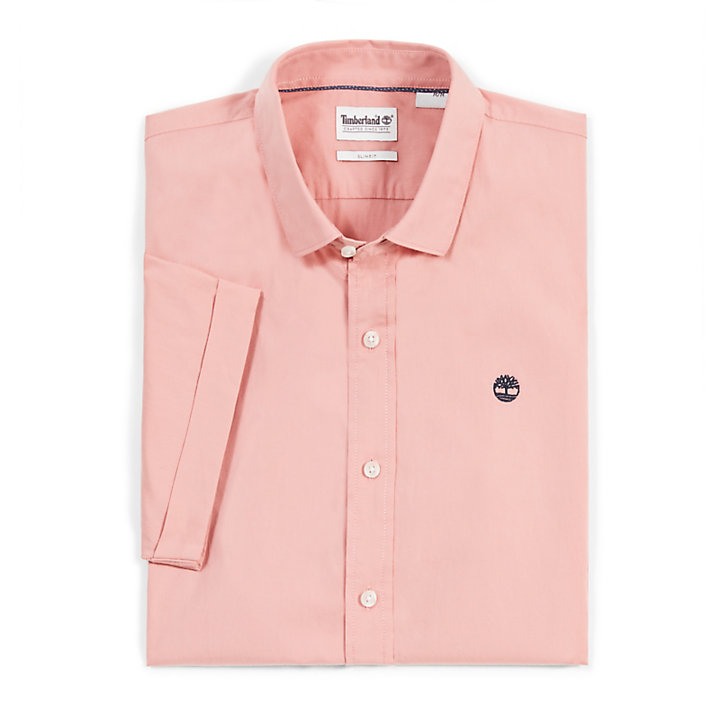 Eastham River SS Shirt for Men in Pink-