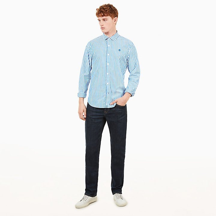 Eastham River Eclectic Shirt for Men in Blue-