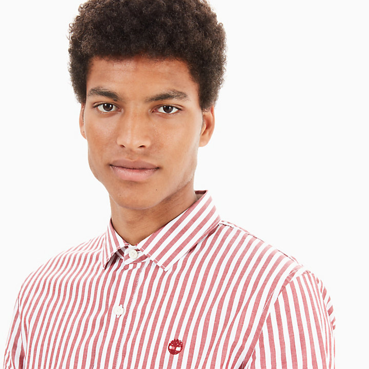 Eastham River Eclectic Shirt for Men in Red-