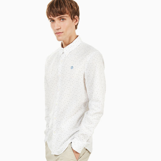 Suncook River Printed Shirt for Men in White | Timberland