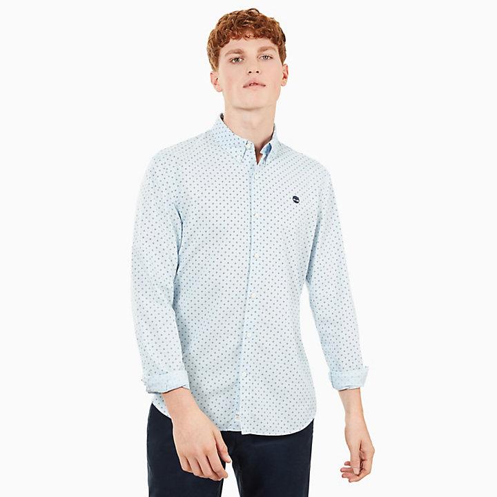 Suncook River Printed Overhemd voor Heren in Blauw-