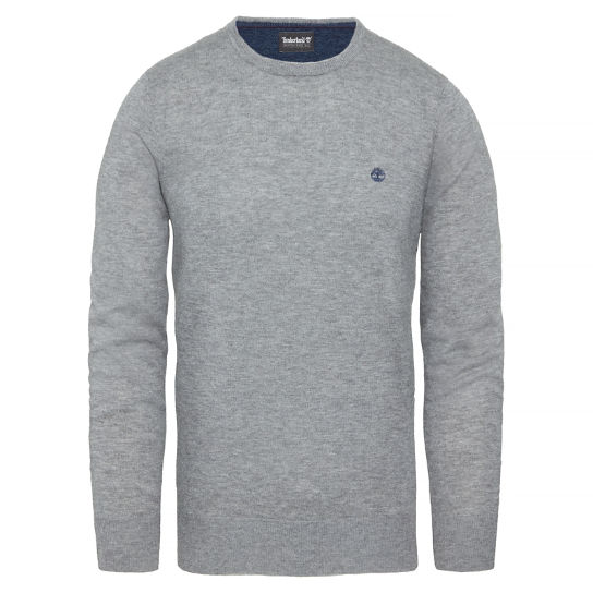 Jones Brook Crew Jumper Homme gris moucheté | Timberland
