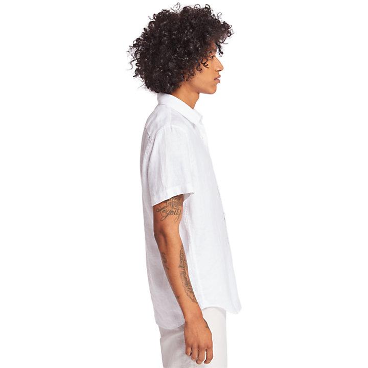 Mill River Linen Shirt for Men in White-