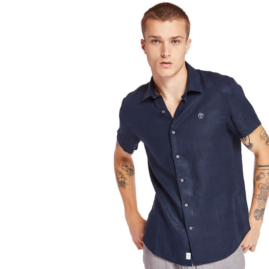 Mill River Linen Shirt for Men in Navy | Timberland