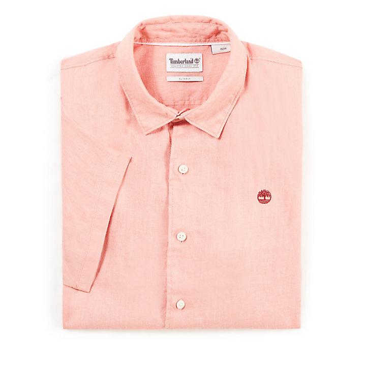 Camicia da Uomo in Lino Mill River Rosa-