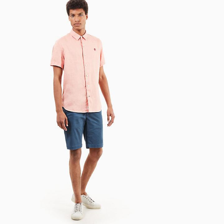 Mill River Linnen Overhemd voor Heren in Roze-