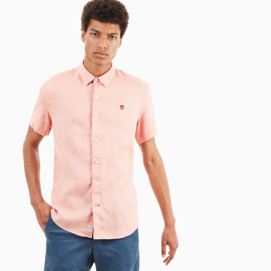 Mill River Linen Shirt for Men in Pink | Timberland