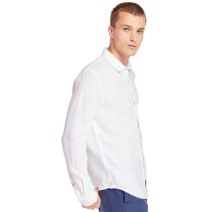 Camisa de Lino Mill River para Hombre en blanco-