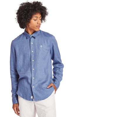 Mill+River+Linen+Shirt+for+Men+in+Blue