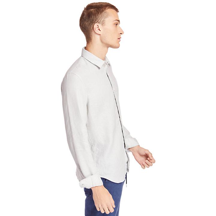 Camisa de Lino Mill River para Hombre en gris claro-