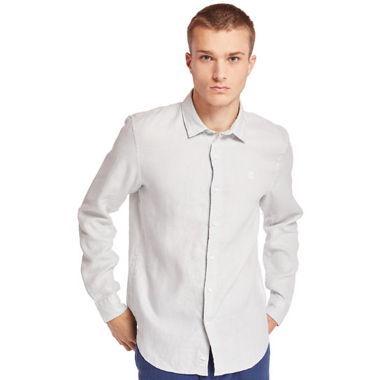 Mill River Linen Shirt for Men in Light Grey | Timberland