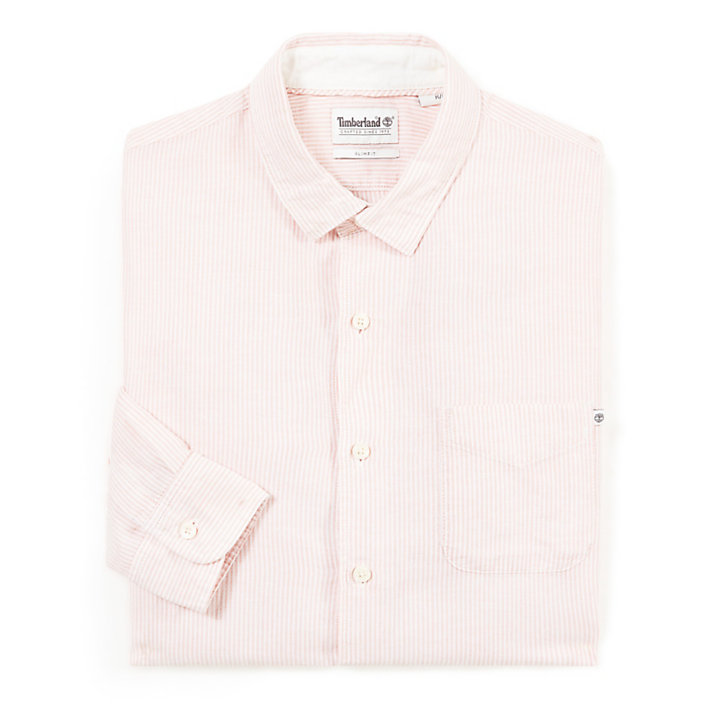 Mill River Eclectic Linen Shirt for Men in Pink-