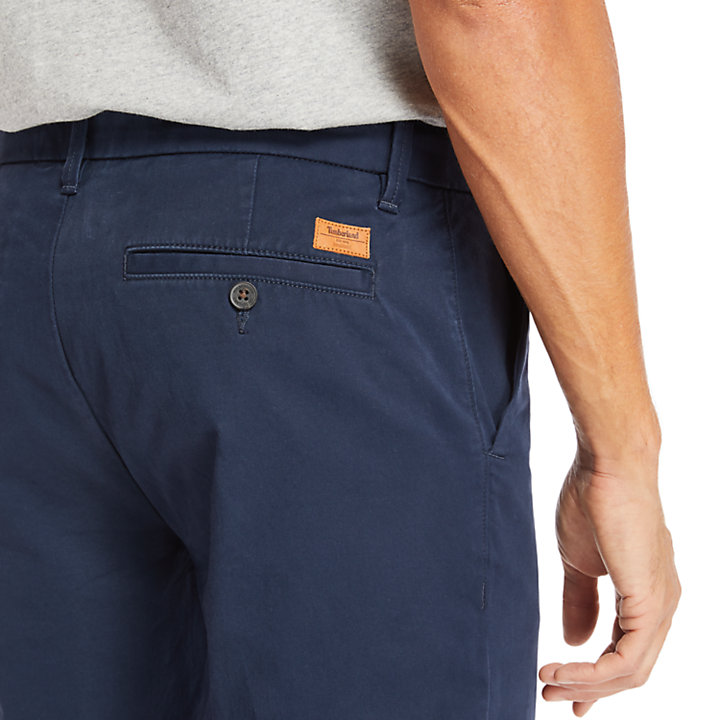 Pantaloni Chino da Uomo in Twill Squam Lake in blu marino-