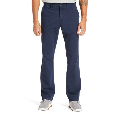 Pantaloni+Chino+da+Uomo+in+Twill+Squam+Lake+in+blu+marino