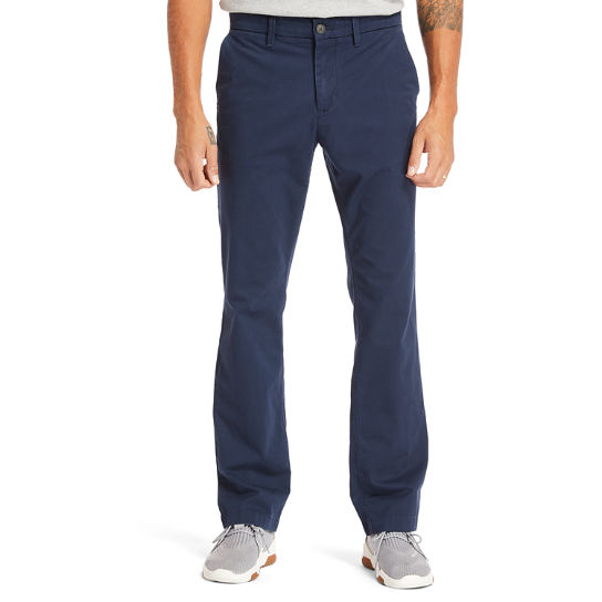 Pantaloni Chino da Uomo in Twill Squam Lake in blu marino | Timberland