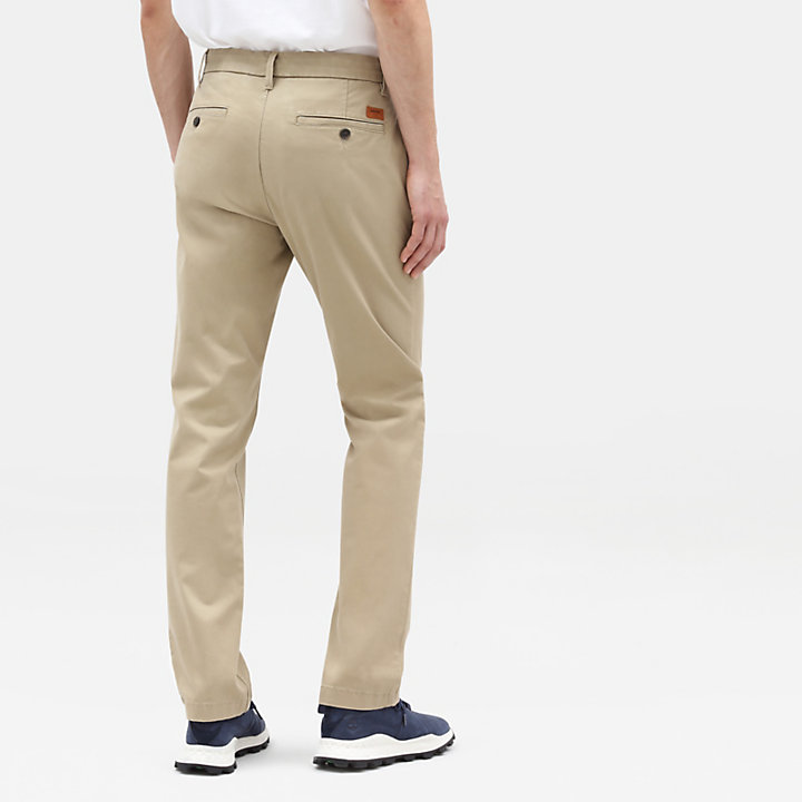 Pantaloni Chino da Uomo in Twill Squam Lake in kaki-