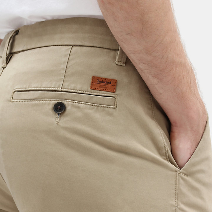 Squam Lake Twill Chinos for Men in Khaki-