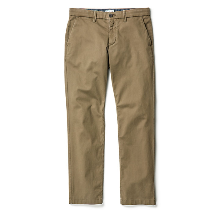 Squam Lake Twill Chinos for Men in Green-