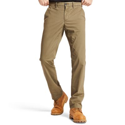 Pantaloni+Chino+da+Uomo+in+Twill+Squam+Lake+in+verde