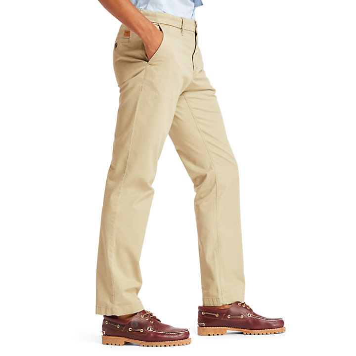 Squam Lake Twill Chinos for Men in Beige-