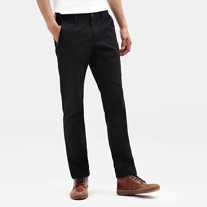 Pantaloni Chino da Uomo Sargent Lake Slim-Fit in colore nero-