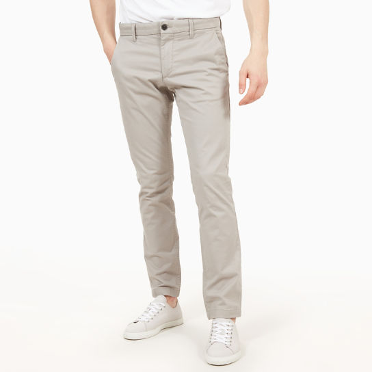 Sargent Lake Twill Chinos for Men in Light Grey | Timberland