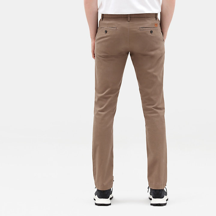 Sargent Lake Stretch Chinos for Men in Brown-