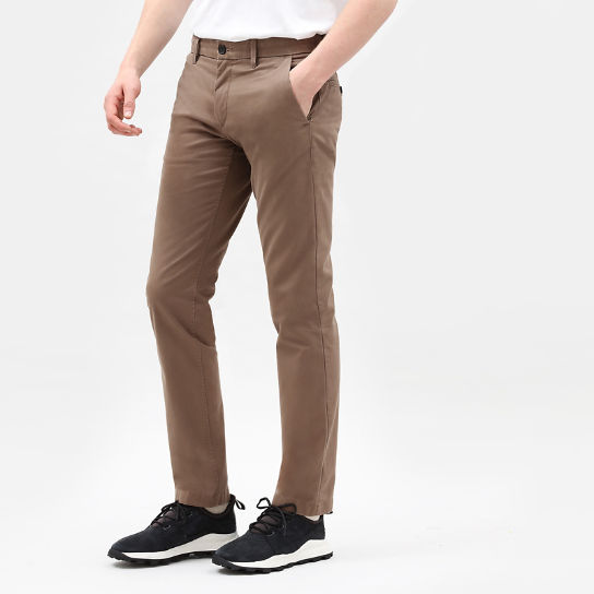 Sargent Lake Stretch Chinos for Men in Brown | Timberland