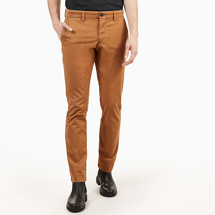 Pantaloni Chino da Uomo in Twill Sargent Lake Marrone Chiaro-