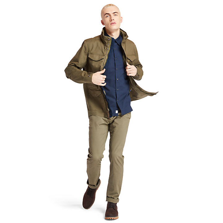 Sargent Lake Slim-Fit Chino voor Heren in donkergroen-