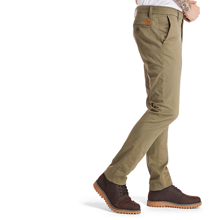 Pantaloni Chino da Uomo Sargent Lake Slim-Fit in verde scuro-
