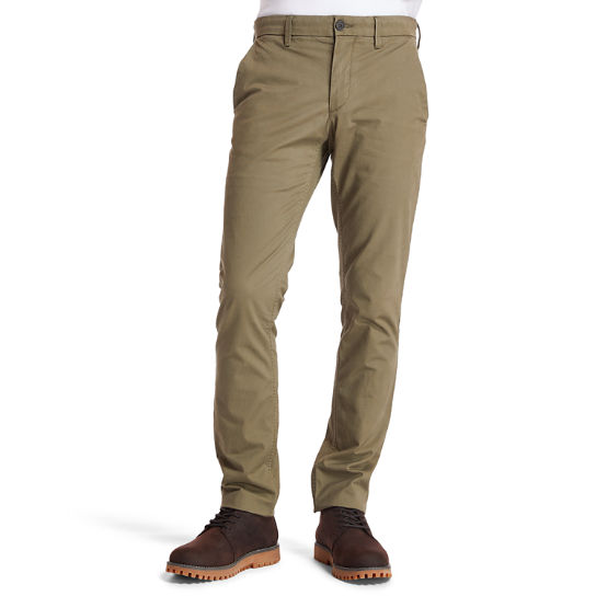 Pantaloni Chino da Uomo Sargent Lake Slim-Fit in verde scuro | Timberland