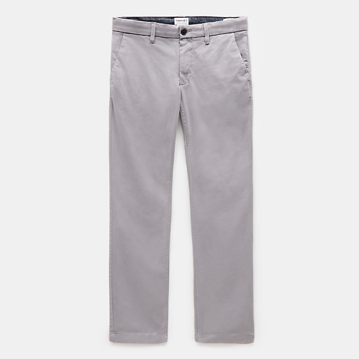Sargent Lake Stretch Chinos for Men in Grey-