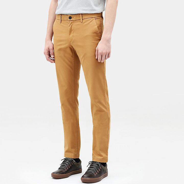 Chino stretch Sargent Lake pour homme en jaune-