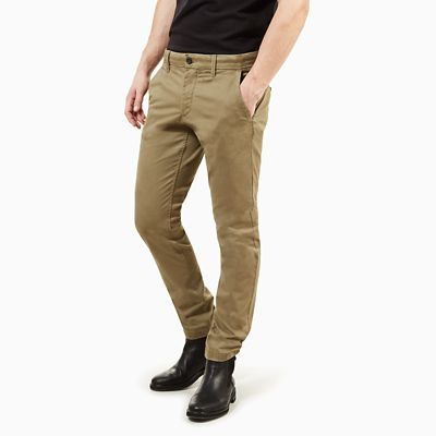 Sargent+Lake+Twill+Chino+voor+Heren+in+Groen
