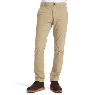 Pantaloni+Chino+da+Uomo+Sargent+Lake+Slim-Fit+in+beige