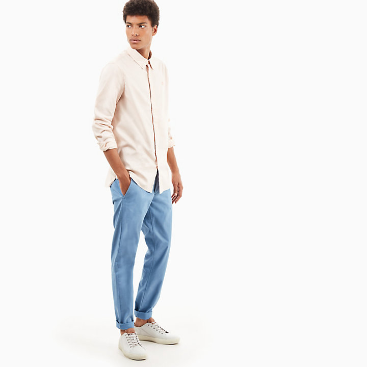 Sargent Lake Twill Chino voor Heren in Lichtblauw-