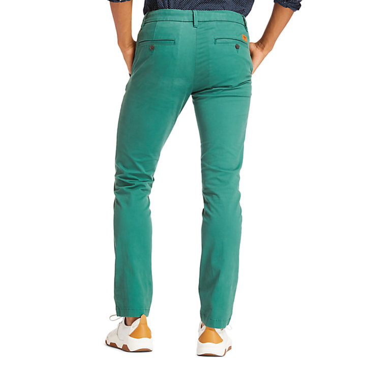 Sargent Lake Slim-Fit Chinos for Men in Green-