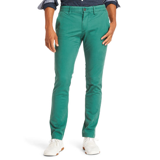 Pantaloni Chino da Uomo Sargent Lake Slim-Fit in verde | Timberland