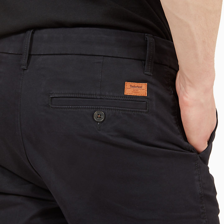 Squam Lake Chino Short voor Heren in Zwart-