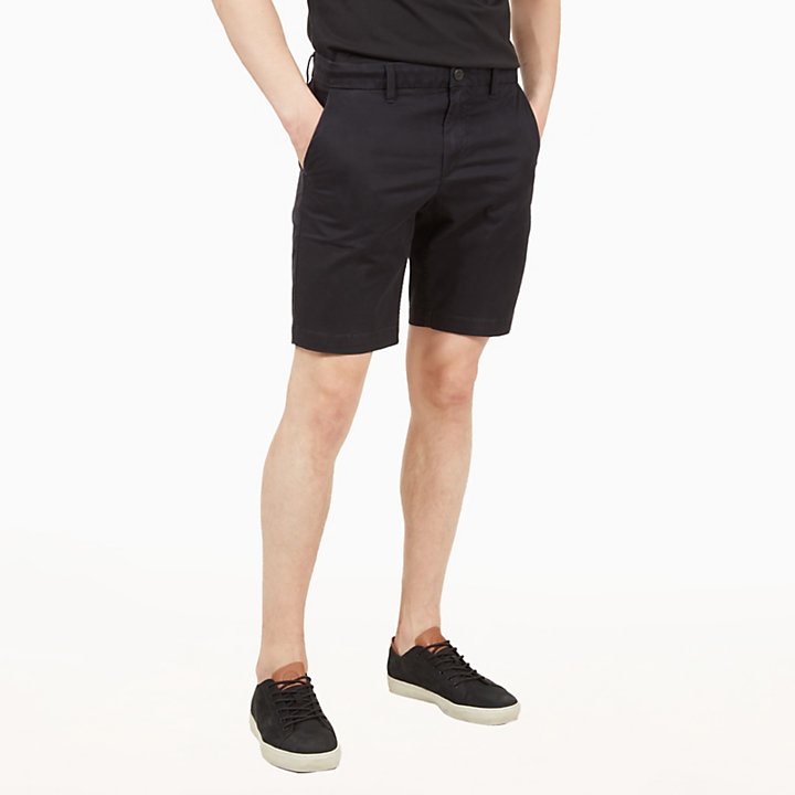 Squam Lake Chino Shorts for Men in Black-