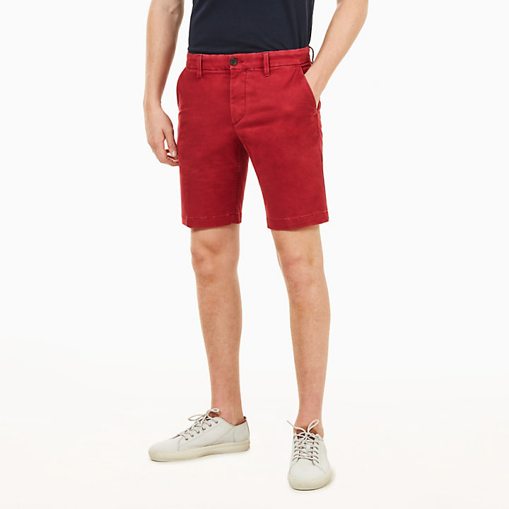 Squam Lake Chino Shorts for Men in Red-