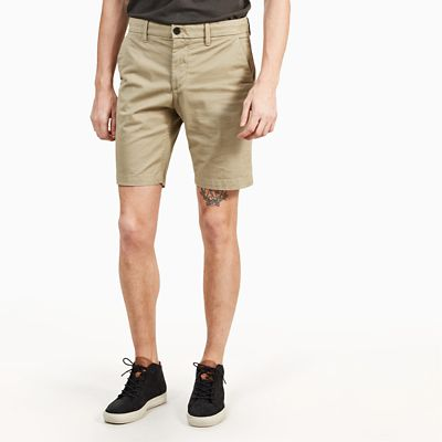 Squam+Lake+Chino+Shorts+for+Men+in+Beige