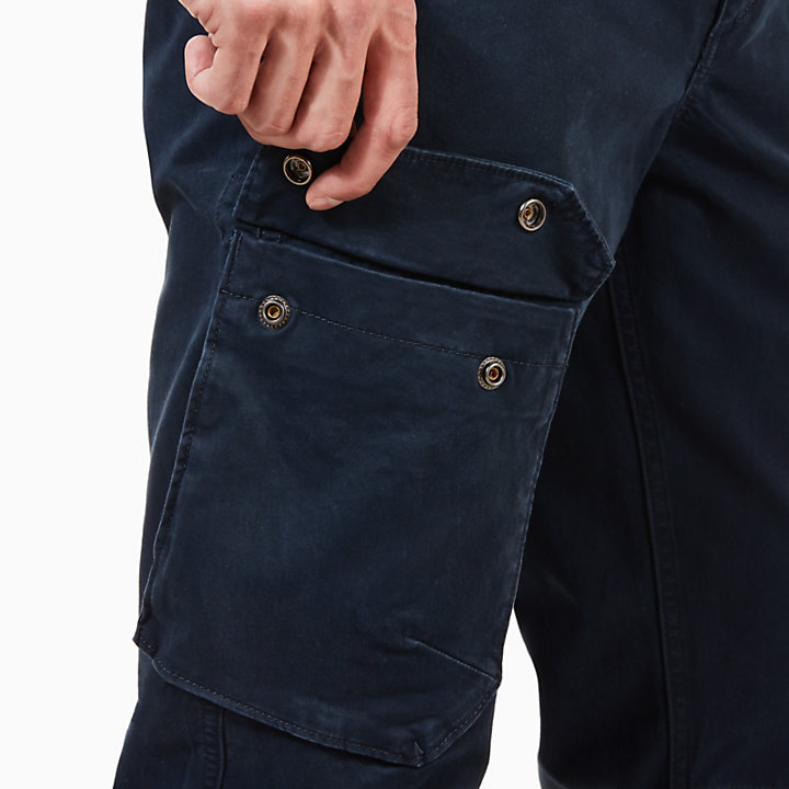 Squam Lake Cargo Trousers for Men in Navy-