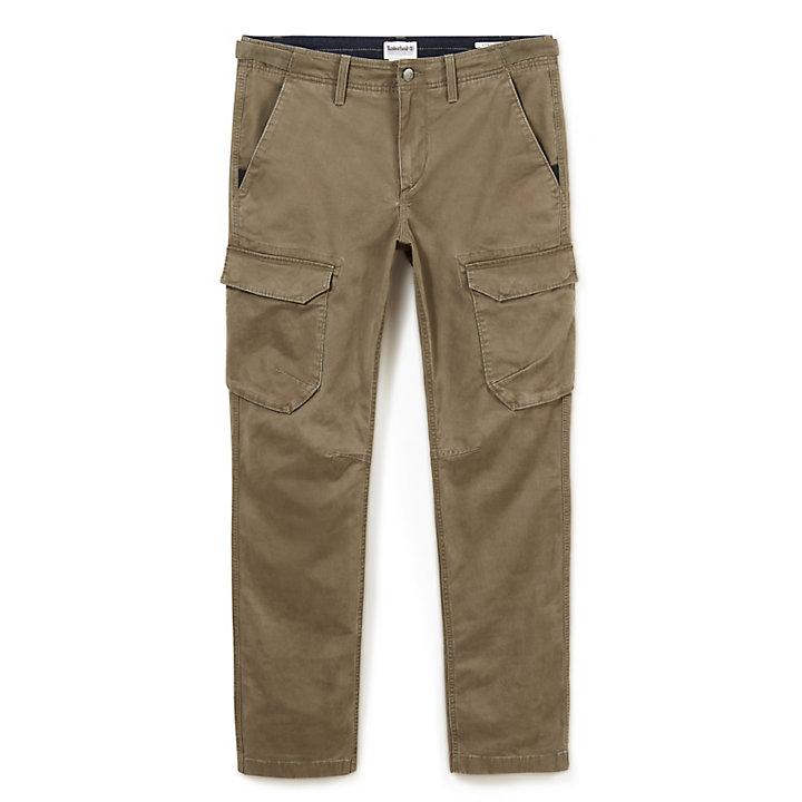 Squam Lake Cargo Trousers for Men in Dark Green-