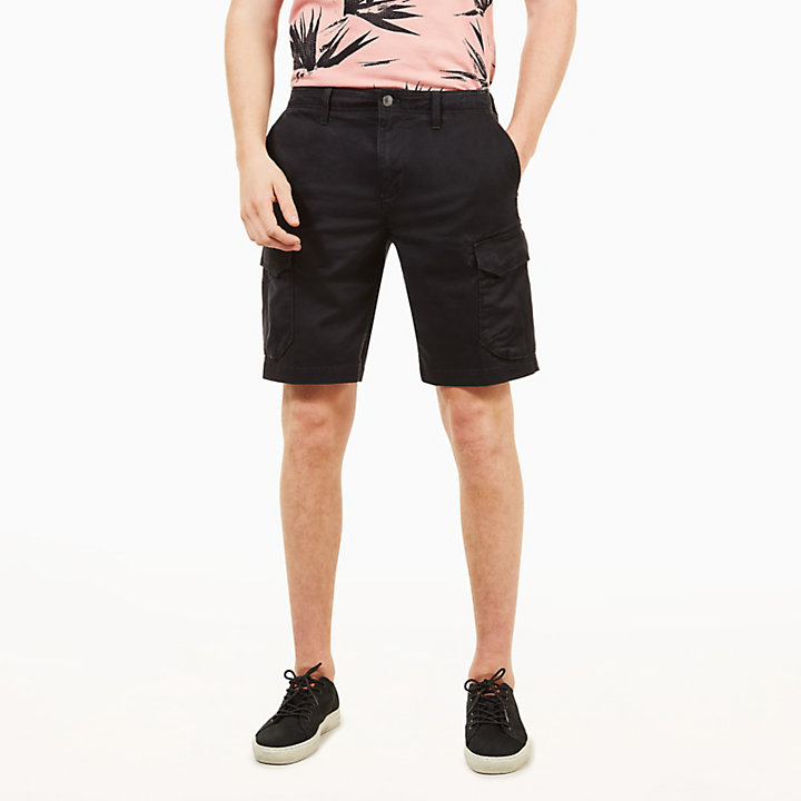 Squam Lake Cargo Shorts for Men in Black-